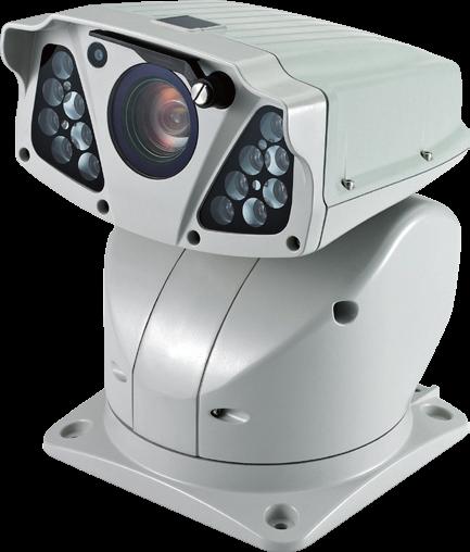 PTZ Hybrid Camera - Heater, Wiper, IR LED, White LED, 36x