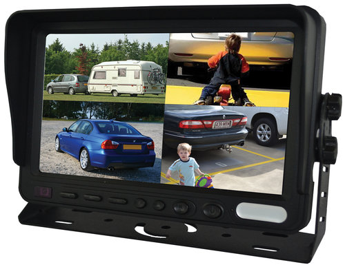 "SVS107MQ- 7"" Dash mnt Monitor Quad Display"