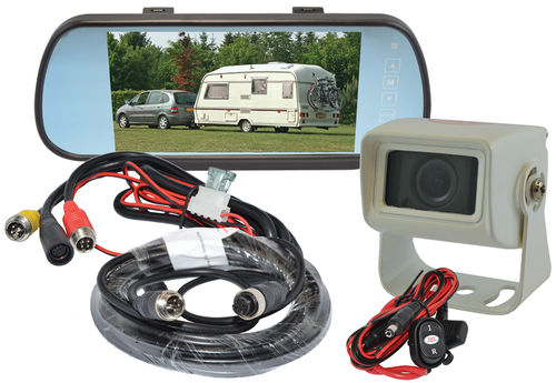 "SVS107MM/1- 7"" Mirror Monitor, 1 x 10m cable + 1 S/"