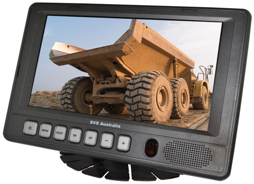 "SVS207M- 7"" LCD Monitor with 4 camera Quad Control Box"
