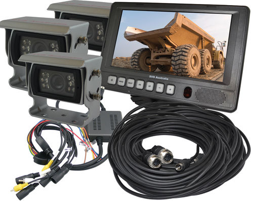 "SVS207/3- 7"" Monitor Rear View Kit w/3 Camera"