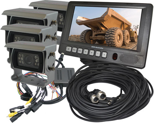 "SVS207/4- 7"" Monitor Rear View Kit w/4 Camera"